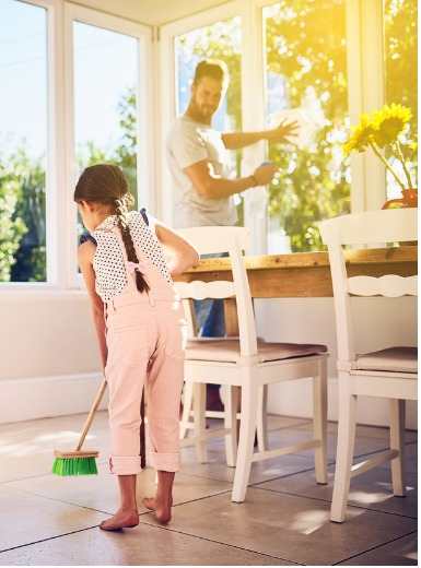 Budget Spring Clean Father Daughter