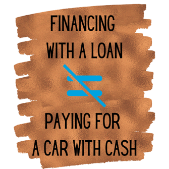 financing auto does not equal cash