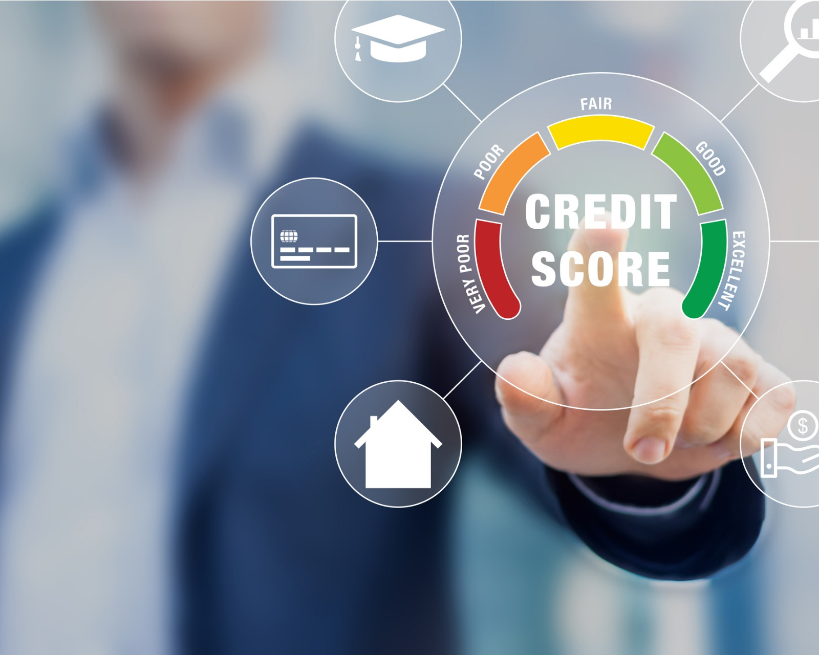 credit-score-rating-based-on-debt-reports-showing-creditworthiness-or-picture-id1200726951