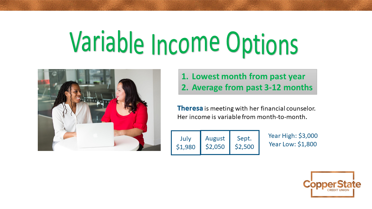 variable income example and options