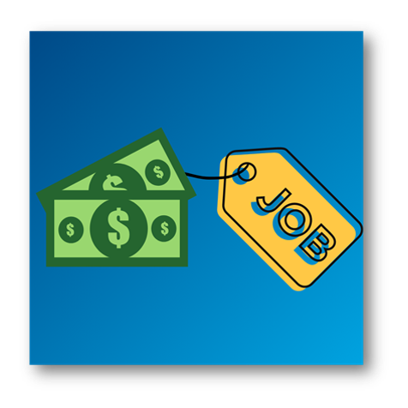 give money a job image