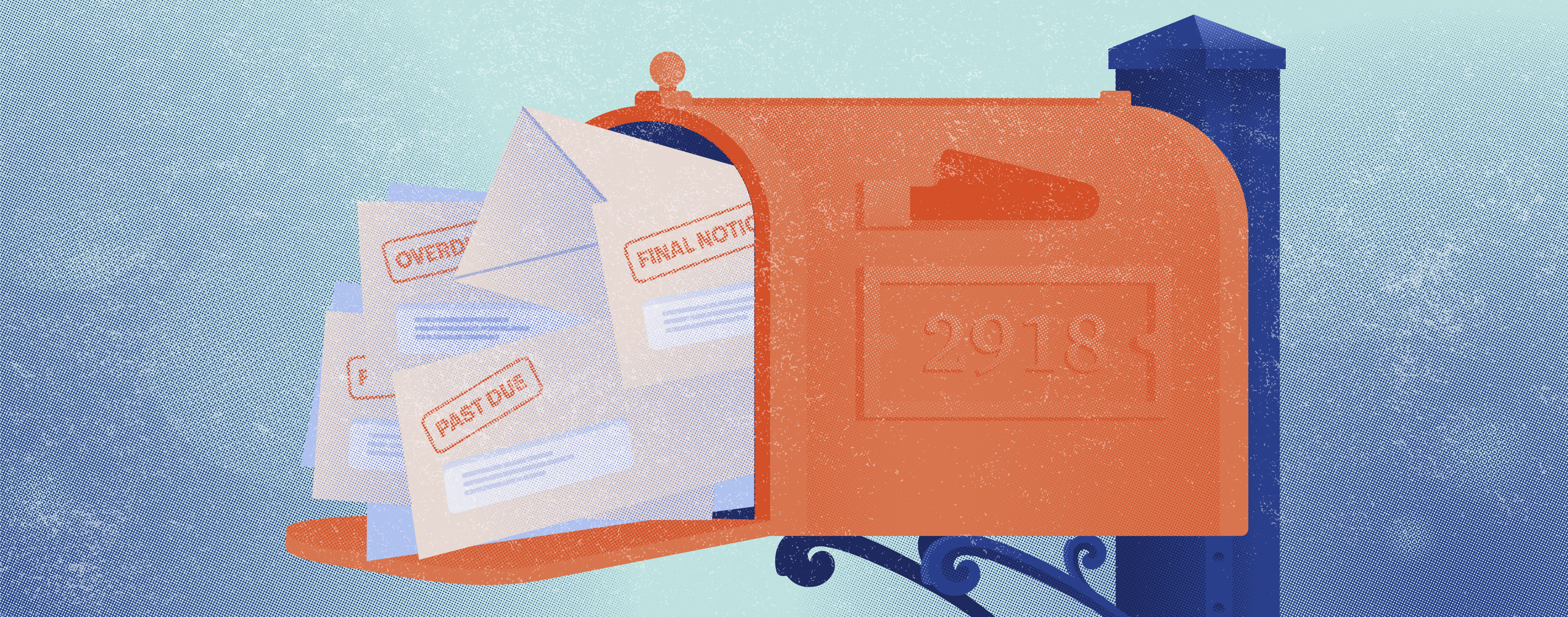 credit card minimum payment past due in mailbox