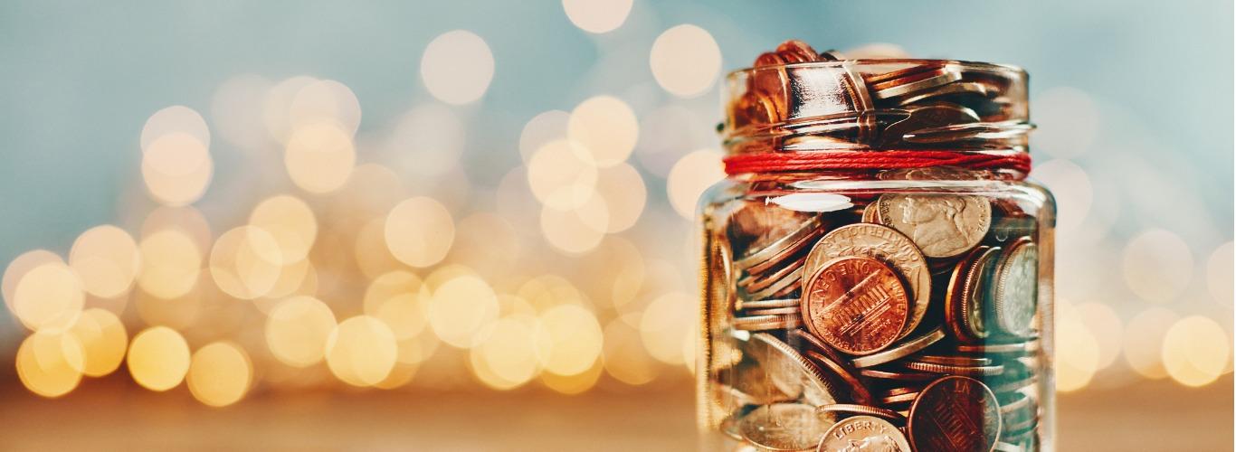 Savings Plan- Image of change in a mason jar